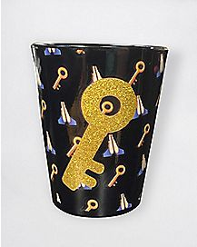 Glitter Key Shot Glass - 1.5 oz.