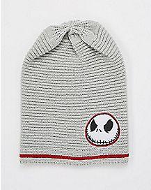 Slouchy Jack Skellington Beanie Hat - The Nightmare Before Christmas