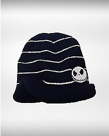 Stripe Nightmare Before Christmas Beanie Hat