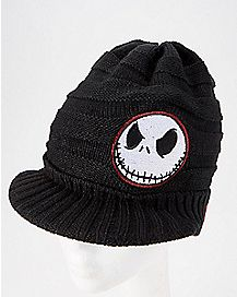 Jack Nightmare Before Christmas Visor Beanie Hat