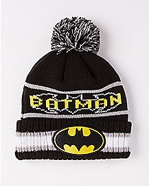 New Era Vintage Pom Batman Beanie