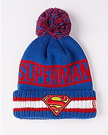 New Era Vintage Pom Superman Beanie