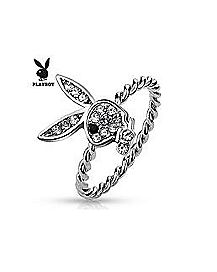 CZ Playboy Bunny Ring