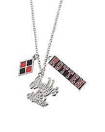Daddy's Lil Monster Suicide Squad 3 Charm Necklace