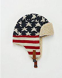 American Flag Trapper Hat