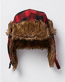 Plaid Buffalo Trapper Hat