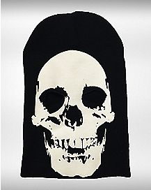 Glow in the Dark Skull Ski Mask