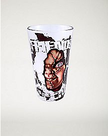 Shattered Chucky Pint Glass 16 oz