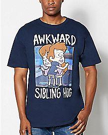 Awkward Sibling Hug Gravity Falls T Shirt