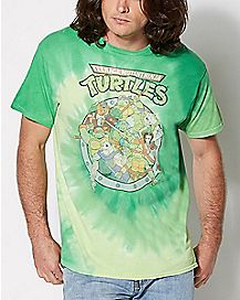 Group TMNT Tie Dye T shirt