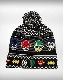 DC Superhero Pom Beanie Hat