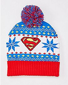 Superman Pom Beanie Hat