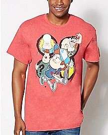 Group Flashlight Gravity Falls T Shirt