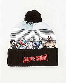 Line Up Suicide Squad DC Comics Pom Beanie Hat