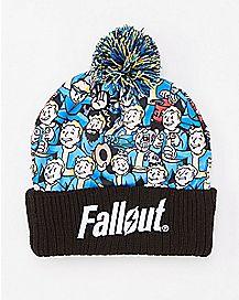 Vault Boy Fallout Pom Beanie Hat