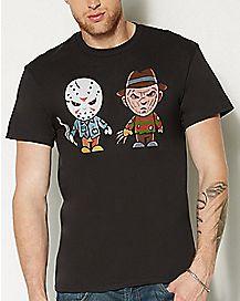 Cartoon Freddy and Jason T Shirt