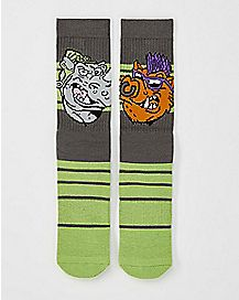 TMNT Bebop and Rocksteady Crew Socks