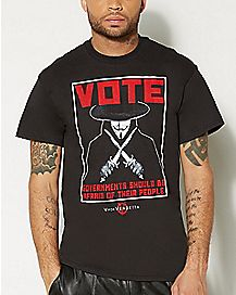 Poster V For Vendetta T Shirt