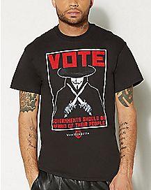 Poster V For Vendetta T Shirt