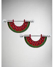 Watermelon Nipple Shields - 14 Gauge