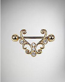 14 Gauge Ornate Nipple Shields