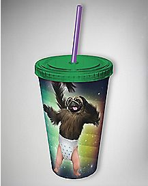 Puppy Monkey Baby Moutain Dew Cup With Straw 16 Oz