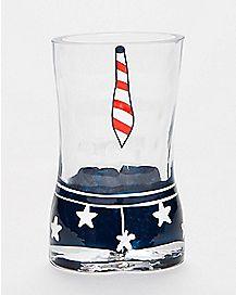 USA Man Tie Shot Glass - 2 oz