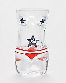 USA Naked Lady Shot Glass 2 oz