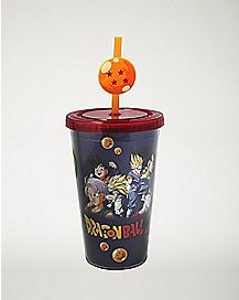Dragon Ball Z Cup With Charm Straw - 16 oz.