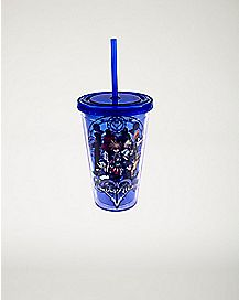 Kingdom Hearts Cup With Straw - 16oz