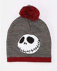 The Nightmare Before Christmas Jack Skellington Pom Pom Beanie Hat