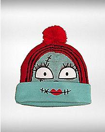 Nightmare Before Christmas Sally Pom Beanie Hat