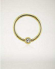 CZ Seamless Captive Ring - 16 Gauge