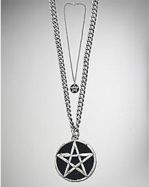 Black Pentagram Pendant Necklace