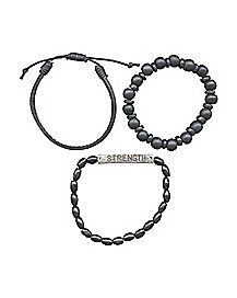 Strength Bead Bracelet 3 Pack