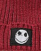 Maroon Nightmare Before Christmas Beanie Hat