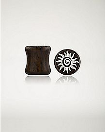 Spiral Sun Ebony Plugs