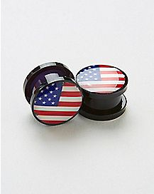USA Flag Plug 2 Pack