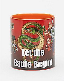 Let The Battle Begin Inside Dragon Ball Z Coffee Mug -  20 oz.