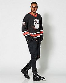 Jason Friday the 13th Long Sleeve Hockey T Shirt