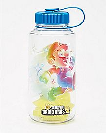 Super Mario Water Bottle With Ice Cubes - 32 oz