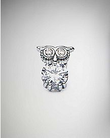 18 Gauge Owl Cartilage Stud