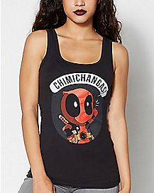 Chimichanga Deadpool Marvel Tank Top