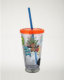 LED Pokemon Cup With Straw - 16 oz