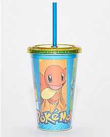 Pokemon Cup With Straw - 16 oz
