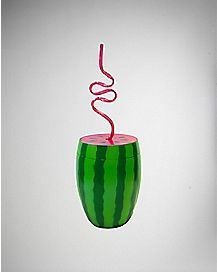 Watermelon Cup With Straw - 24 oz.