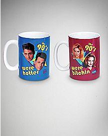 Beverly Hills/Melrose Place 90's Mug Set - 14 oz