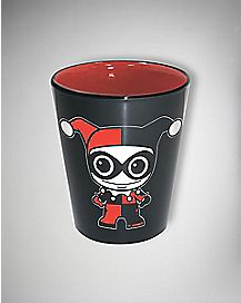 Harley Quinn Shot Glass 2 Oz Ceramic