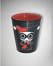 Harley Quinn Shot Glass 2 oz