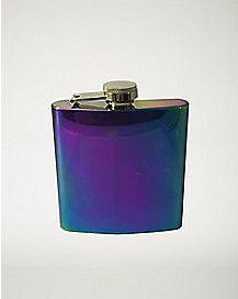 Rainbow Luster Flask 8 oz